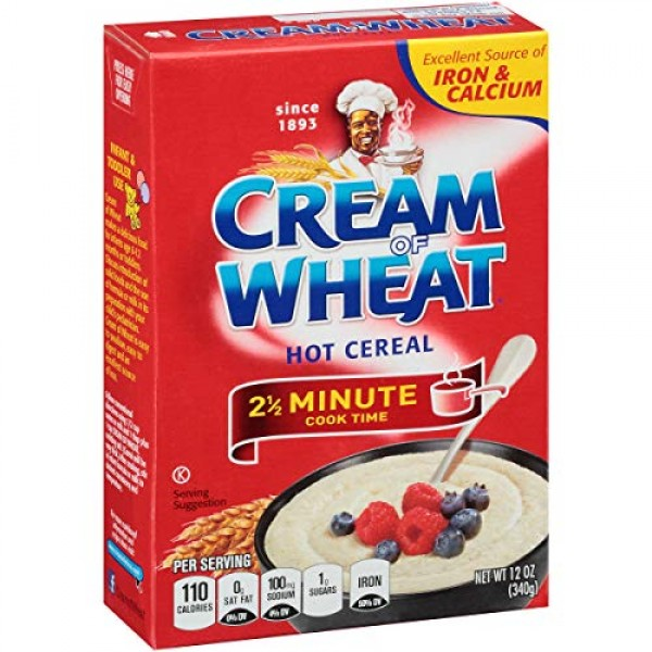 Cream of Wheat Original Stove Top Hot Cereal, 2 1/2 Minute Cook ...