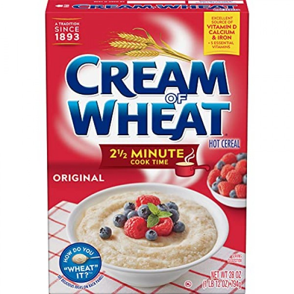 Cream of Wheat Stove Top Hot Cereal, Original, 2 1/2 Minute Cook...