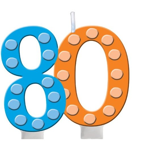 Creative Converting Bright and Bold 80th Birthday Molded Numeral...