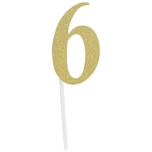 Creative Converting 324548 Milestone Gold Glitter Birthday Cake ...