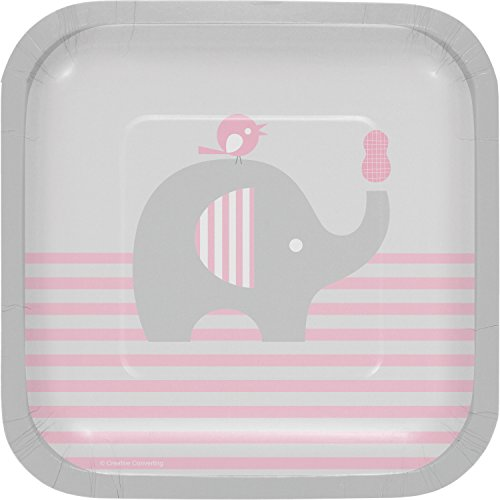 Little Peanut Girl Elephant Dessert Plates, 24 ct