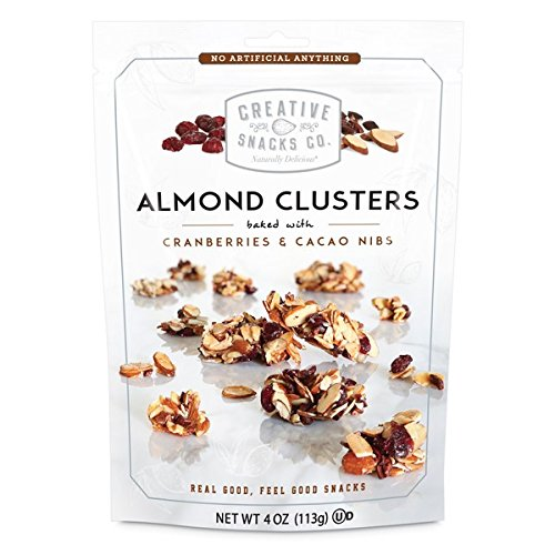 Creative Snacks, Almond Clusters, Cranberries & Cacao Nibs, 4 oz...
