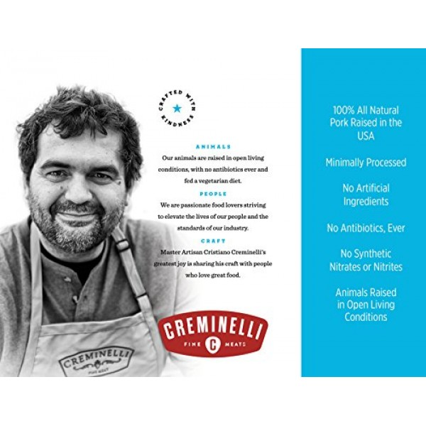 Creminelli Italian Casalingo Salami, Delicately Flavored, Salt a...