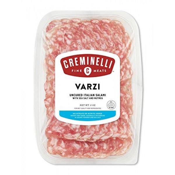 Creminelli Sliced Varzi Itallian Salami, Nutmeg and Clove Spice,...