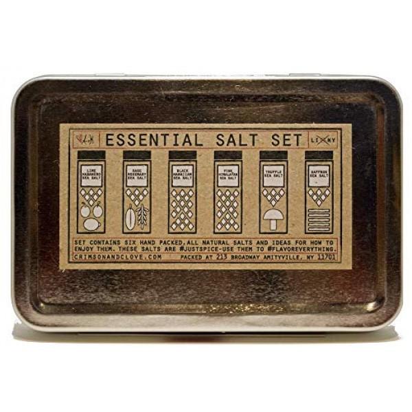 Essential Salt Gift Set - Truffle Salt, Black Hawaiian Salt, Pin...