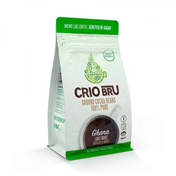 Crio Bru Ghana Light Roast 10oz Bag | Natural Healthy Brewed Cac...