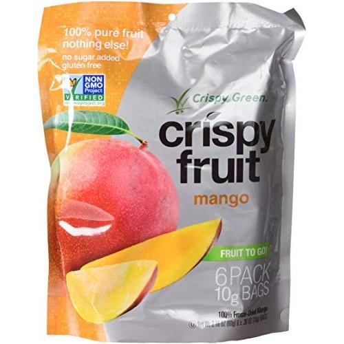 Crispy Green Crispy Fruit 100% Freeze Dried Mango - 6 ct