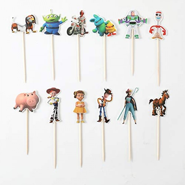 CRODER 24PCS New ToyStory Cupcake Toppers For Kids Birthday Part...