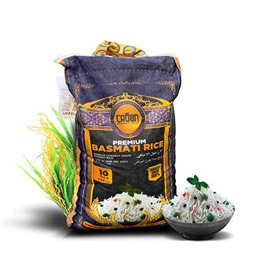 Crown Premium Quality White Basmati Rice – White 2 Years Aged Ex...