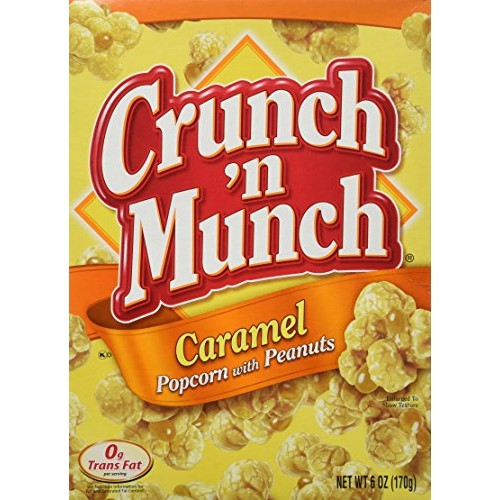 Crunch 'N Munch Caramel Popcorn, 6-ounce Boxes (Pack of 3)