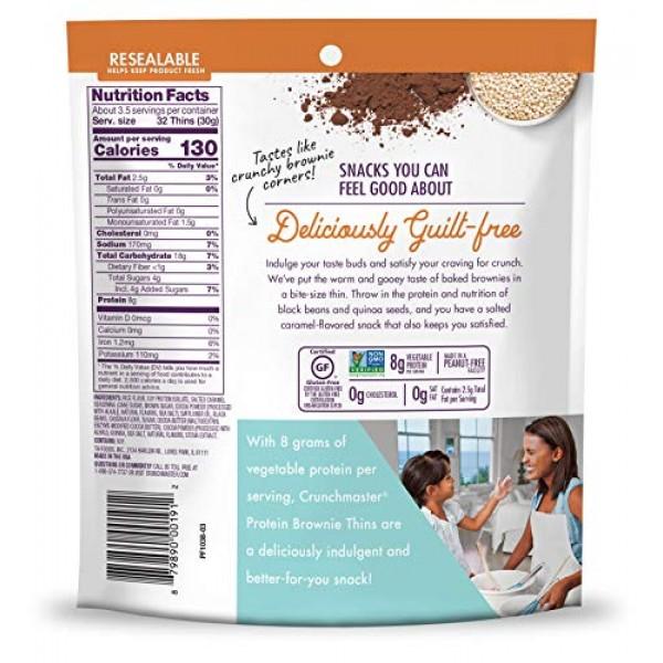 Crunchmaster Protein Brownie Thins Salted Caramel, 3.54 Oz