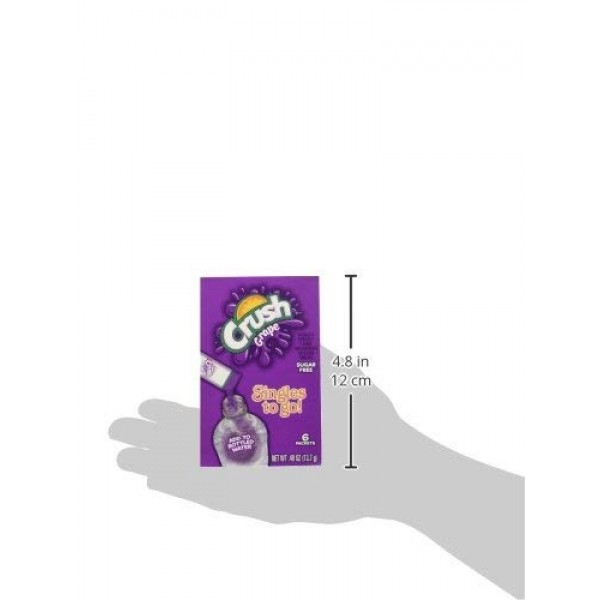 Crush Grape Singles To Go Drink Mix, 6 CT Pack - 6