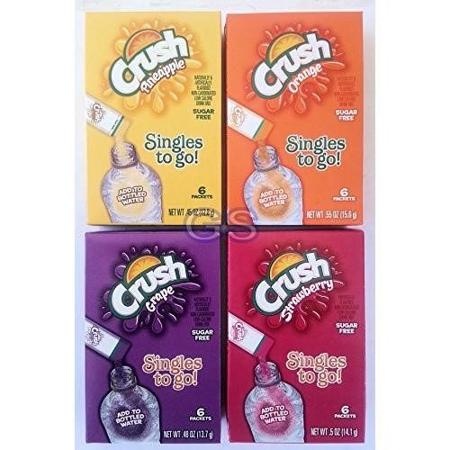 Crush Soft Drink Mix Combo, Pineapple, Orange Grape Strawberry, ...