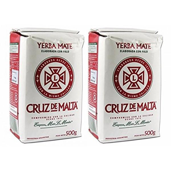 Cruz De Malta 1/2 Kilo Yerba Mate Pack of 2