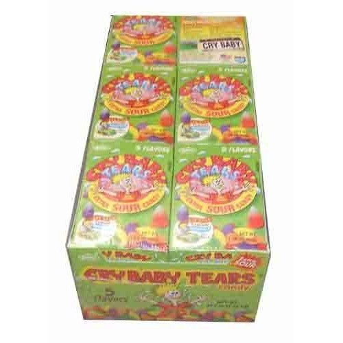 Cry Baby Tears Extra Sour Candy, Five Flavors, 1.9-ounce Boxes ...