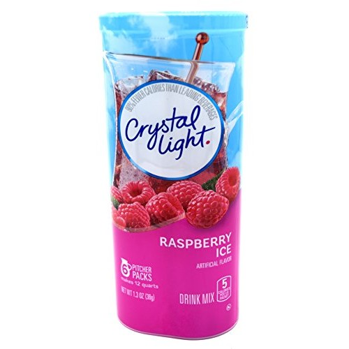 Crystal Light Raspberry Ice, 12 Quart 1.3 Ounce Canister Pack o...