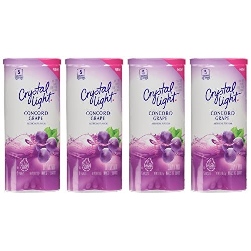 Crystal Light Concord Grape Drink Mix Pack of 4