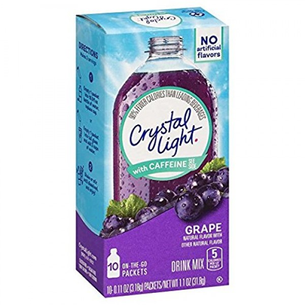 Crystal Light Grape Flavor Drink Mix 10ct Pack of 3