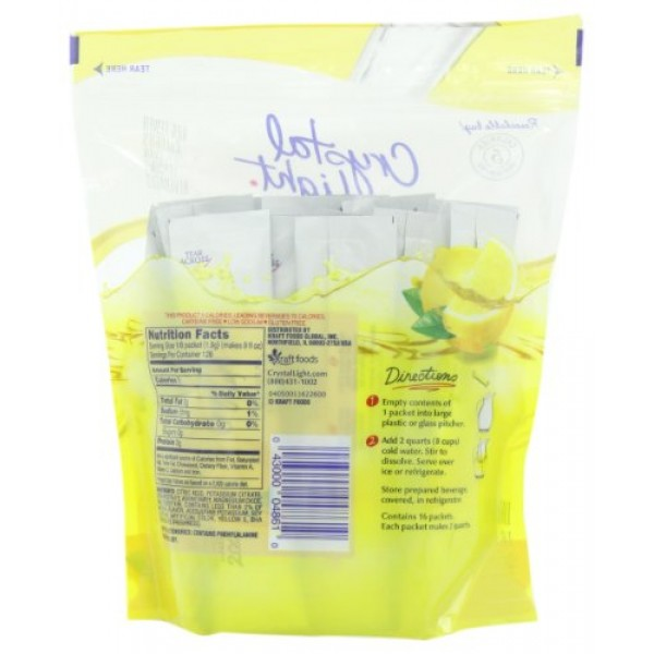 Crystal Light Lemonade Drink Mix 16 Pitcher Packets, 1count
