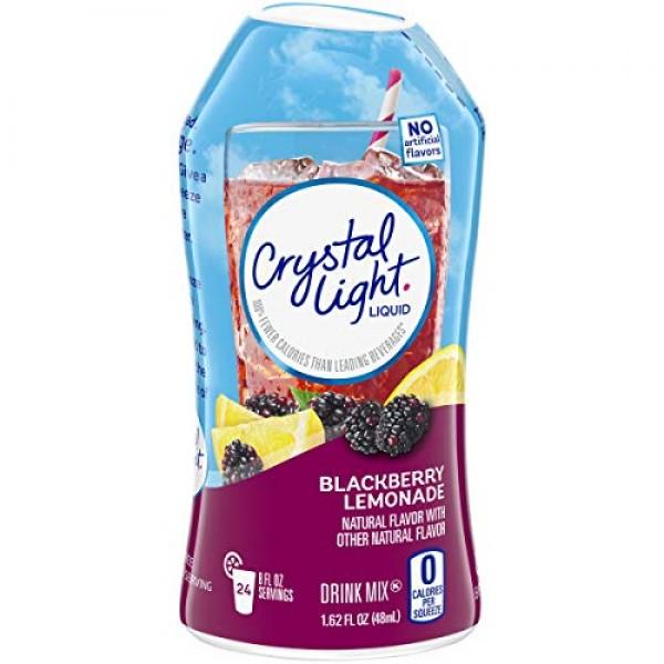 Crystal Light Liquid Blackberry Lemonade Drink Mix 1.62 oz Bottle