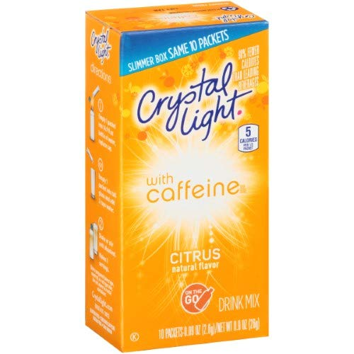 Crystal Light on the Go Energy Citrus, 10 Packets 2-Pack
