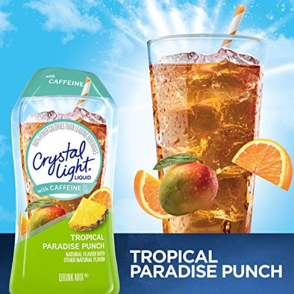 Crystal Light Tropical Paradise Punch Liquid Drink Mix with Caff...
