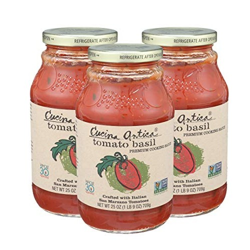 Cucina Antica Pasta Sauce, Tomato Basil, 25 Ounce Pack Of 3
