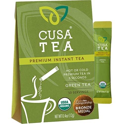Cusa Tea: Organic Green Premium Instant Tea - 100% Organic Tea -...