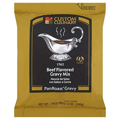 Custom Culinary PanRoast Beef Flavored Gravy Mix, 12 Ounce -- 8 ...