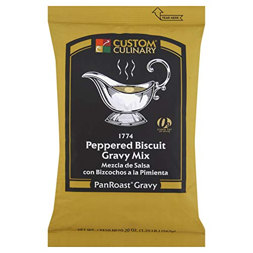 Custom Culinary PanRoast Peppered Biscuit Gravy Mix, 20 Ounce - ...