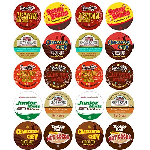 20 Cup Crazy CANDY Hot Cocoa Sampler! NEW! Candy Inspired Hot Ch...