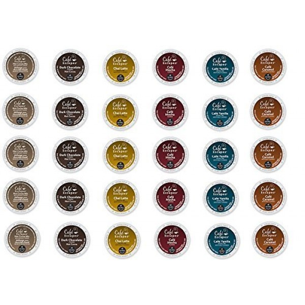 30 Count - Cafe Escape Variety K Cup For Keurig K-Cup Brewers - ...