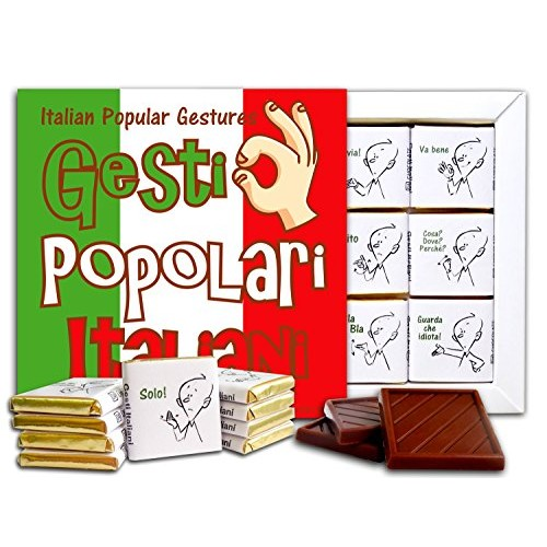POPULAR ITALIAN GESTURES Chocolate Gift Set, 5x5in, 1 box Flag ...