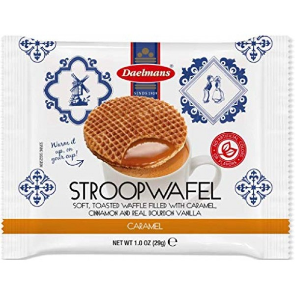 DAELMANS Stroopwafels, Dutch Waffles Soft Toasted, 24 Pack Caram...