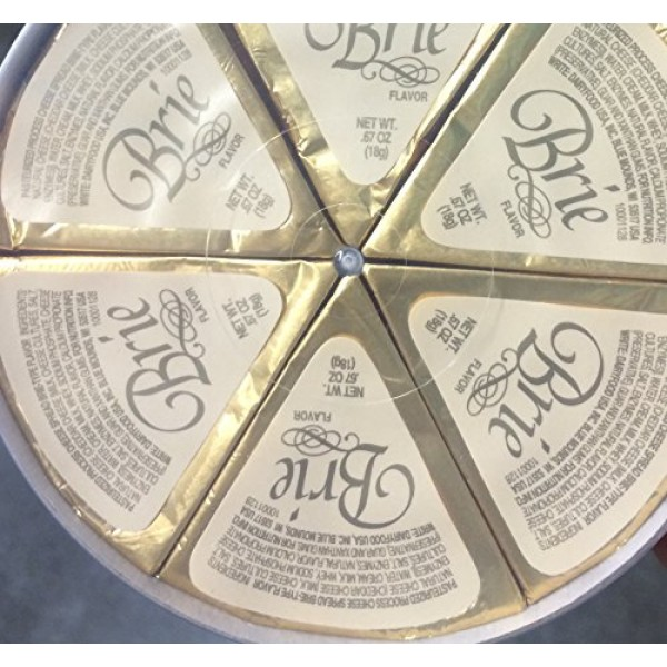 4.2oz Brie Wheel Cheese Wedges by Dairy Food, One Unit