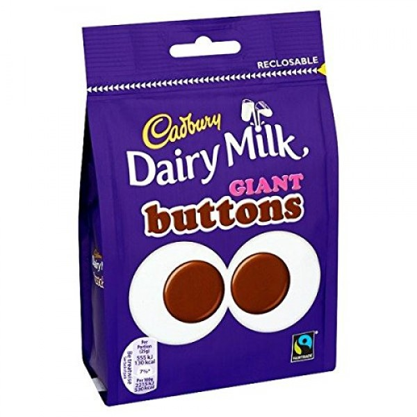 Cadbury Dairy Milk Giant Buttons Chocolate 119g Bag
