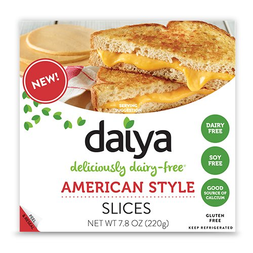 Daiya American Style Cheese Slices, 7.8 Ounce pack Of 08