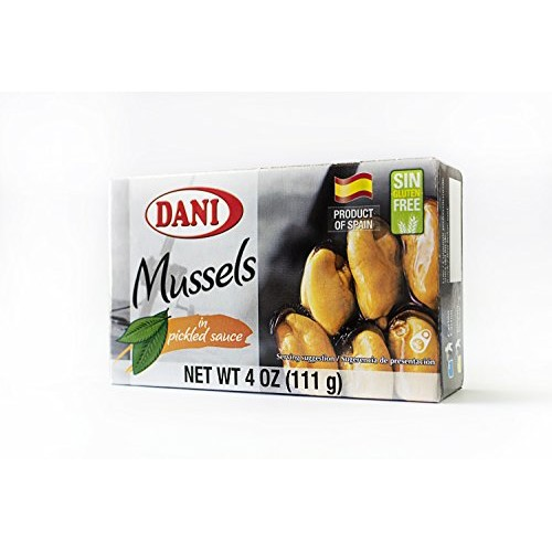 Dani Mussels in Pickled Sauce Escabeche Canned 4 oz 110 g