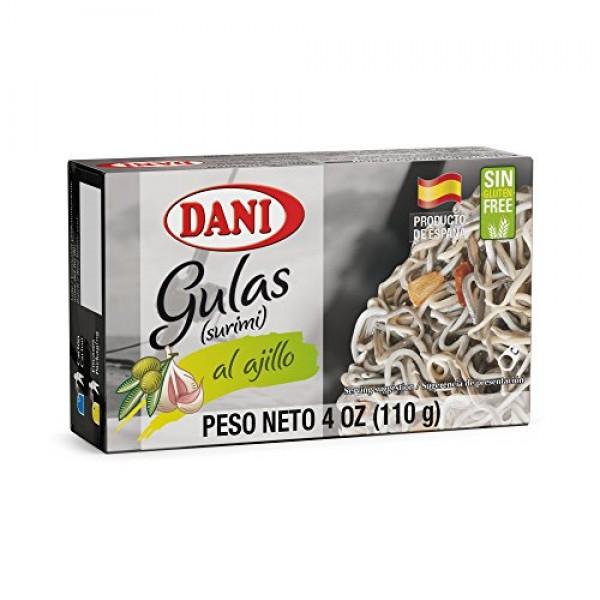 Dani Baby Eel Surimi Pack of 25 units , in Garlic Sauce Gu...