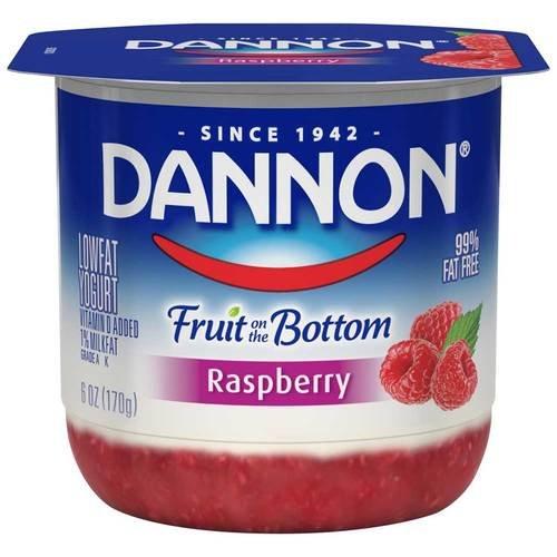 Dannon Fruit on the Bottom Raspberry Yogurt, 6 Ounce -- 12 per c...