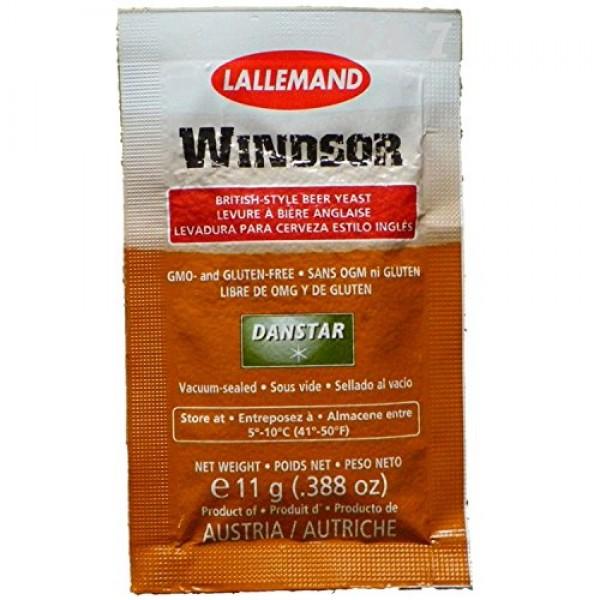 3x Danstar WINDSOR Beer Yeast 11g Fast Fermenting Premium Britis...