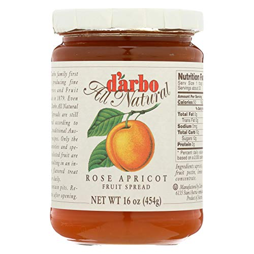 DArbo Rose Apricot Fruit Spread, Pack of 6