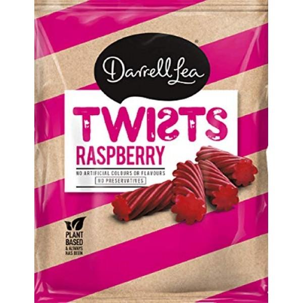 Darrel Lea Raspberry Twists Licorice, Made In Australia, 300g
