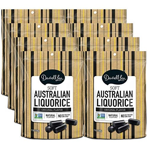 Soft Australian Black Licorice 8-Pack - Darrell Lea 8 7oz Ba...
