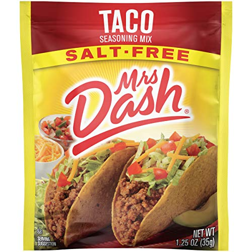 Mrs. Dash Seasoning Mix, Taco, 1.25 Ounce Pack of 12