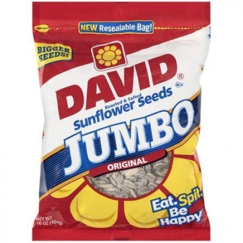 David Sunflower Seed In Shell - Jumbo, 16 Ounce 2 Pack