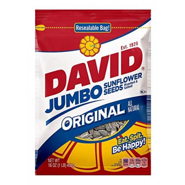 David Sunflower Seed In Shell - Jumbo, 16 Ounce 2 Pack