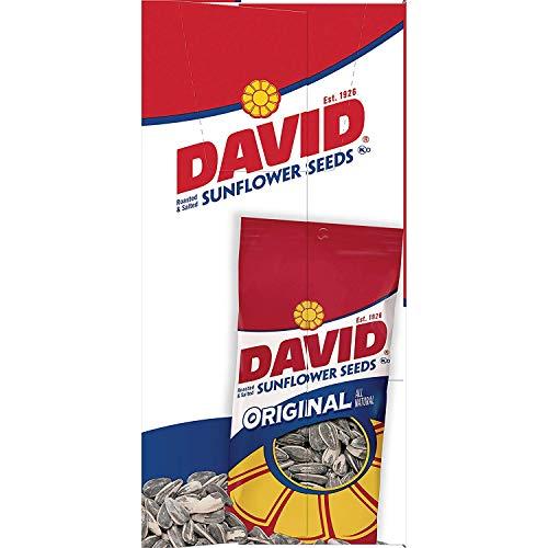 DAVID Roasted and Salted Original Sunflower Seeds, Keto Friendly...