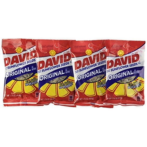 David Seeds Original Sunflower Seeds, 1.75-ounce BagsPack of 24