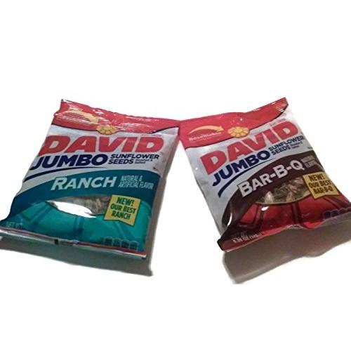 David Jumbo Sunflower Seeds, 5.25 Oz, Variety Bundle Pack Pack ...